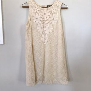 White crochet/lace dress
